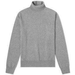 Acne Studios Kurtle New Face Roll Neck Knit Grey Melange