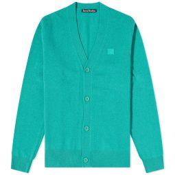 Acne Studios Keve New Face Garment Dyed Cardigan Jade Green