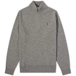 Polo Ralph Lauren Quarter Zip Knit Fawn Grey Heather