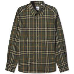 Burberry Caxton Check Shirt Deep Green Check