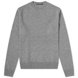 Acne Studios Kalon New Face Crew Knit Grey Melange
