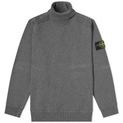 Stone Island Winter Cotton Roll Neck Knit Charcoal