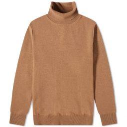 Maison Margiela Reversed Seam Roll Neck Knit Camel