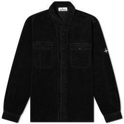 Stone Island Compass Sleeve Cord Shirt Black