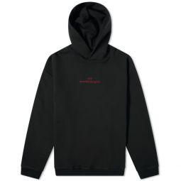 Maison Margiela Embroidered Text Logo Hoody Black