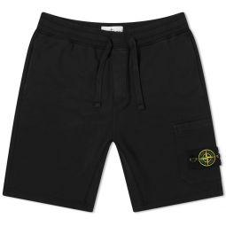 Stone Island Garment Dyed Short Black