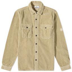 Stone Island Compass Sleeve Cord Shirt Ecru