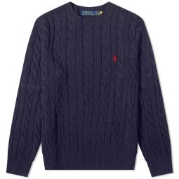 Polo Ralph Lauren Cable Crew Knit Hunter Navy