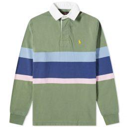 Polo Ralph Lauren Bold Stripe Rugby Shirt Fatigue Multi