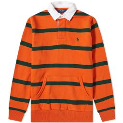 Polo Ralph Lauren Rugby Shirt College Orange & College Green