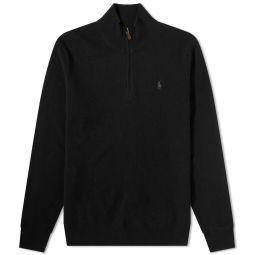 Polo Ralph Lauren Quarter Zip Knit Polo Black