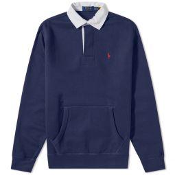 Polo Ralph Lauren Fleece Pocket Rugby Shirt Newport Navy