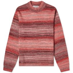 Acne Studios Kiwa Stripe Knit Pink Multi