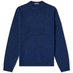Acne Studios Kowhai Shetland Crew Knit Spruce Blue