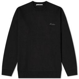 Acne Studios Krew Oversize Logo Crew Knit Black