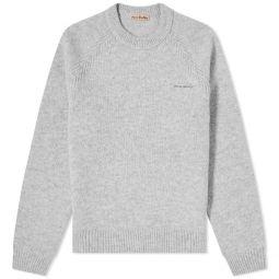 Acne Studios Kowhai Shetland Crew Knit Light Grey Melange