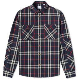 Burberry Button Down Coulsdon Check Shirt Navy Ip Check