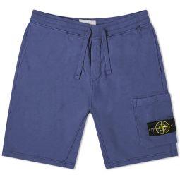 Stone Island Garment Dyed Sweat Short Avio Blue