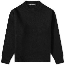 Acne Studios Kael Cash Mix Crew Knit All Black