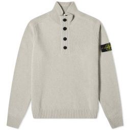 Stone Island Button Funnel Crew Knit Taupe