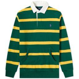 Polo Ralph Lauren Rugby Shirt New Forest & Gold Bugle