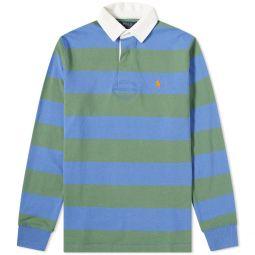 Polo Ralph Lauren Striped Rugy Shirt Deep Blue & Fatigue