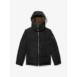 Logo-Lined Quilted Puffer Jacket