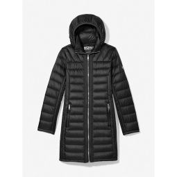 Quilted Nylon Packable Puffer Coat