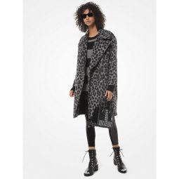 Leopard Jacquard Cocoon Coat