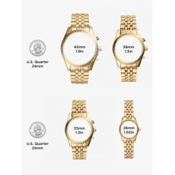Oversized Whitney Pave Gold-Tone Watch