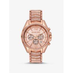 Oversized Whitney Pave Rose Gold-Tone Watch