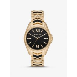 Whitney Gold-Tone and Enamel Watch
