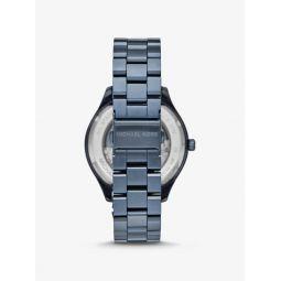 Oversized Merrick Blue-Tone Watch