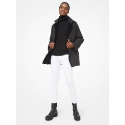 Shearling Lined Quilted Puffer Jacket