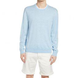 Linen Blend Crewneck Sweater_LIGHT BLUE