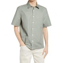 Standard Short Sleeve Button-Up Shirt_SHADOW GREY