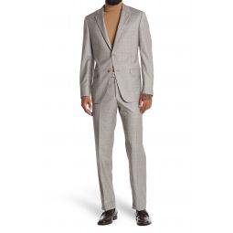 Milburn Notch Lapel Two Button Plaid Wool Suit