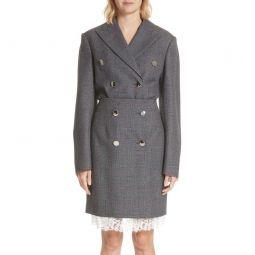 Curved Sleeve Wool Blazer