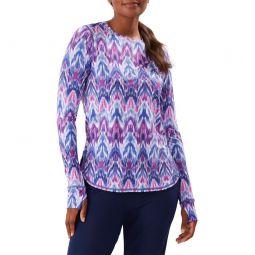 Ikat Mirage Geometric Print Long Sleeve Relaxed T-Shirt