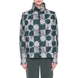 Circlefield Print Zip Front Jacket