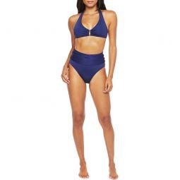 Getaway Solid Halter Tie Bikini Top