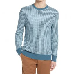 Texture Stitch Cotton Sweater_Blue