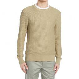 Texture Stitch Cotton Sweater_TAN