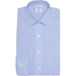 Grid Print Non-Iron Regent Fit Dress Shirt