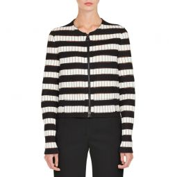 Striped Crop Jacket