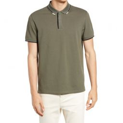 Tipped Pique Polo_OLIVE MULTI