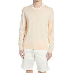Linen Blend Crewneck Sweater_APRICOT