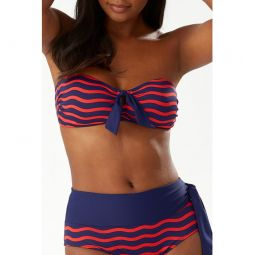Sea Swell Tie Front Bandeau Bikini Top