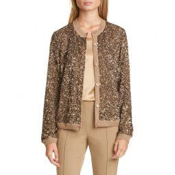 New York Jade Sequin Sweater Jacket