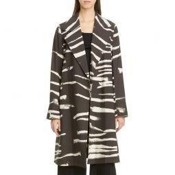 Mayfair Printed Belted Wool Blend Jacket